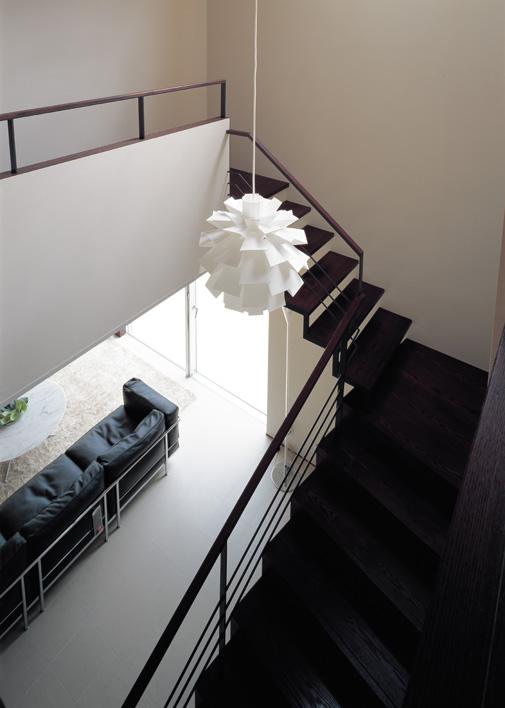 階段ホールの吹抜け